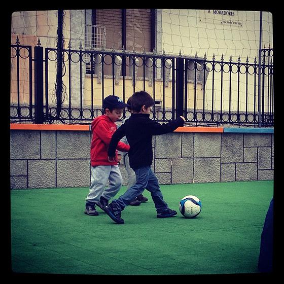 Grande gozo a jogar à bola, ao fim de 5 anos sem interesse pela coisa