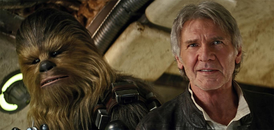 The Force Awakens - Han Solo and Chewbacca